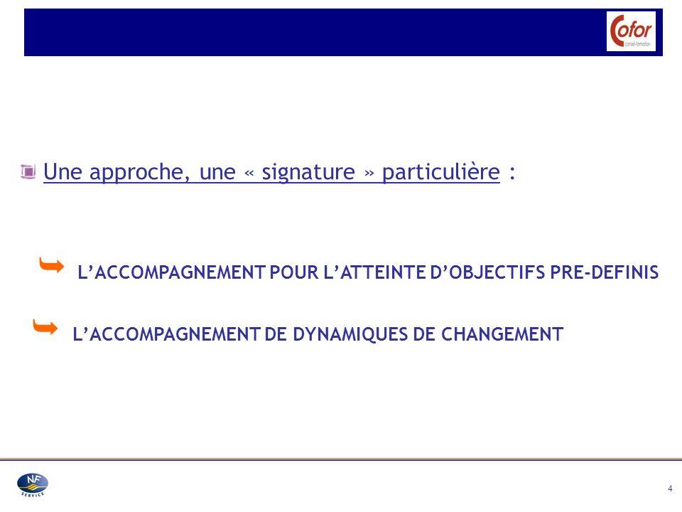  L'ACCOMPAGNEMENT POUR L'ATTEINTE D'OBJECTIFS PRE-DEFINIS