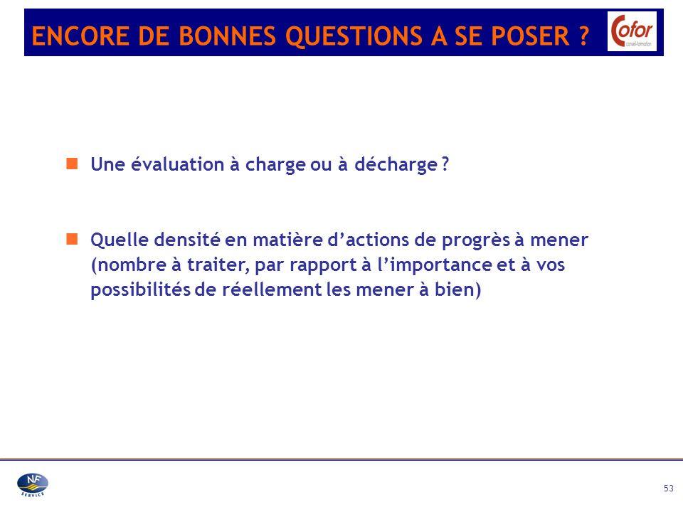 ENCORE DE BONNES QUESTIONS A SE POSER