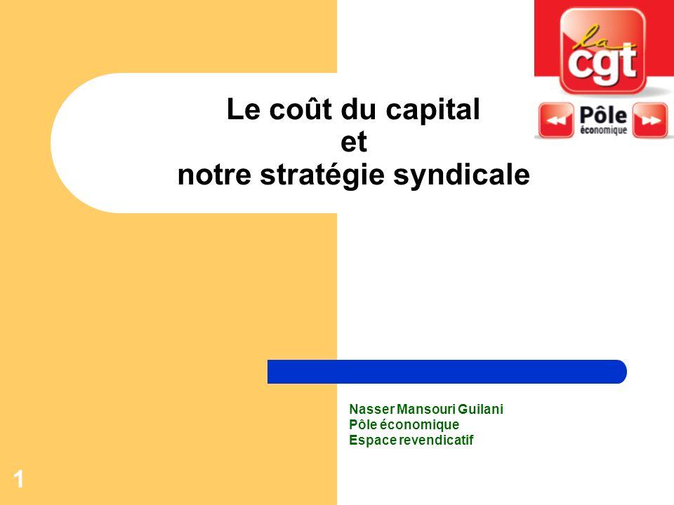 Le coût du capital et notre stratégie syndicale