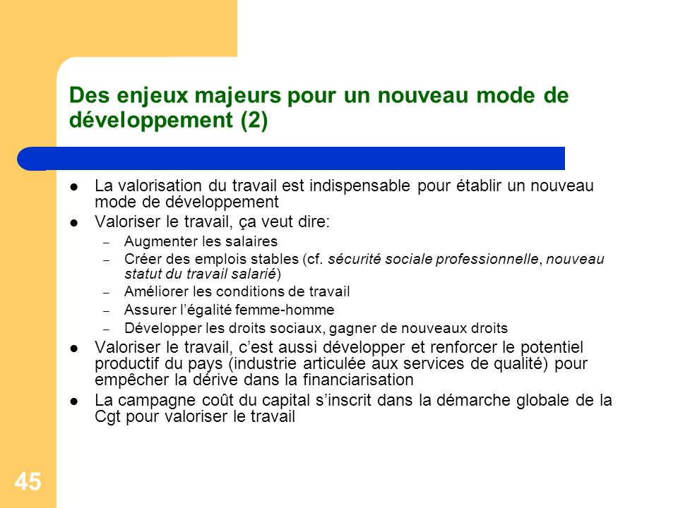 Des enjeux majeurs pour un nouveau mode de développement (2)