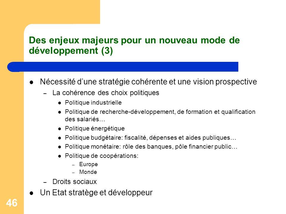Des enjeux majeurs pour un nouveau mode de développement (3)