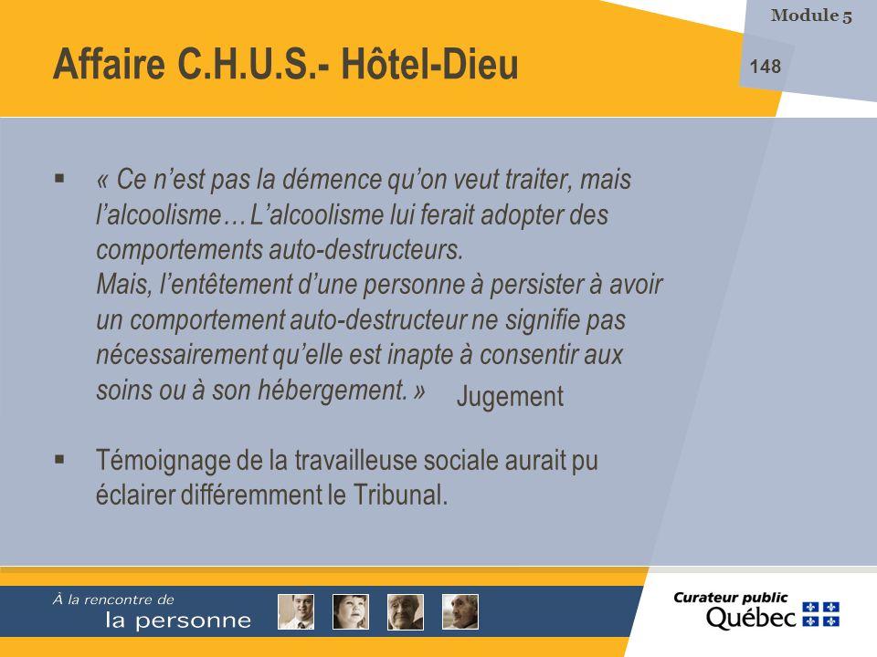 Affaire C.H.U.S.- Hôtel-Dieu