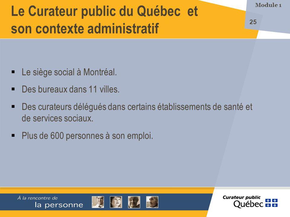 Le Curateur public du Québec et son contexte administratif