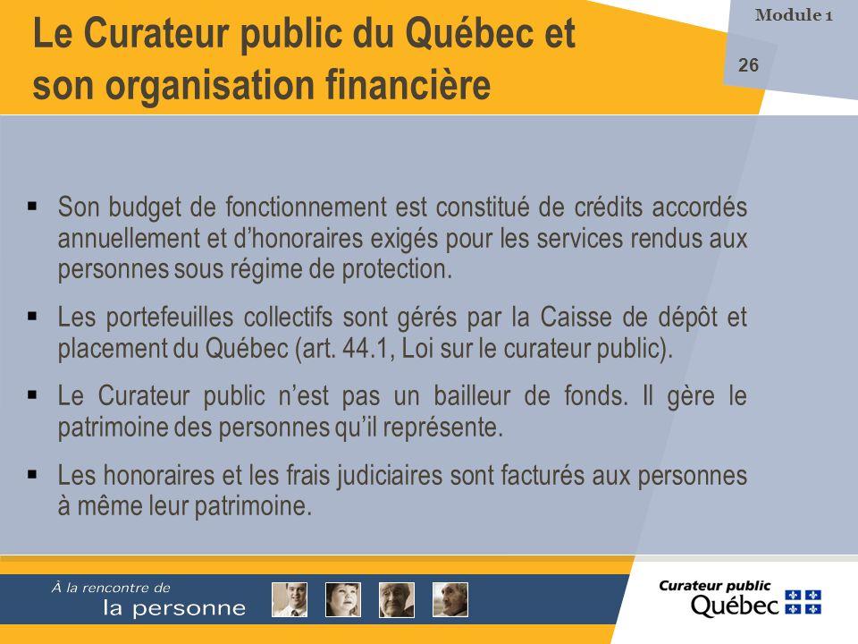 Le Curateur public du Québec et son organisation financière