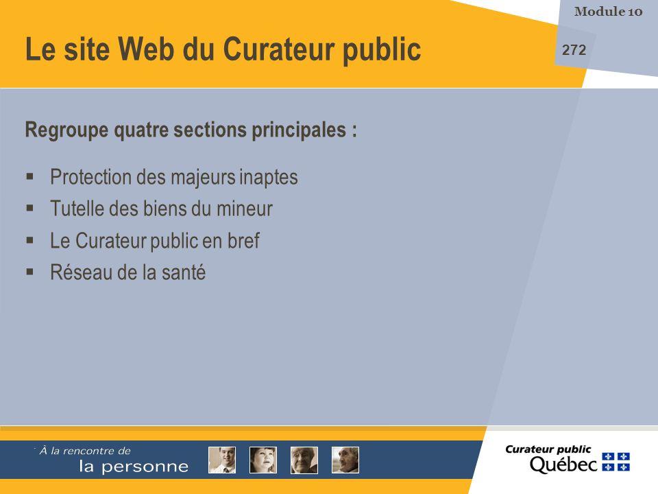 Le site Web du Curateur public