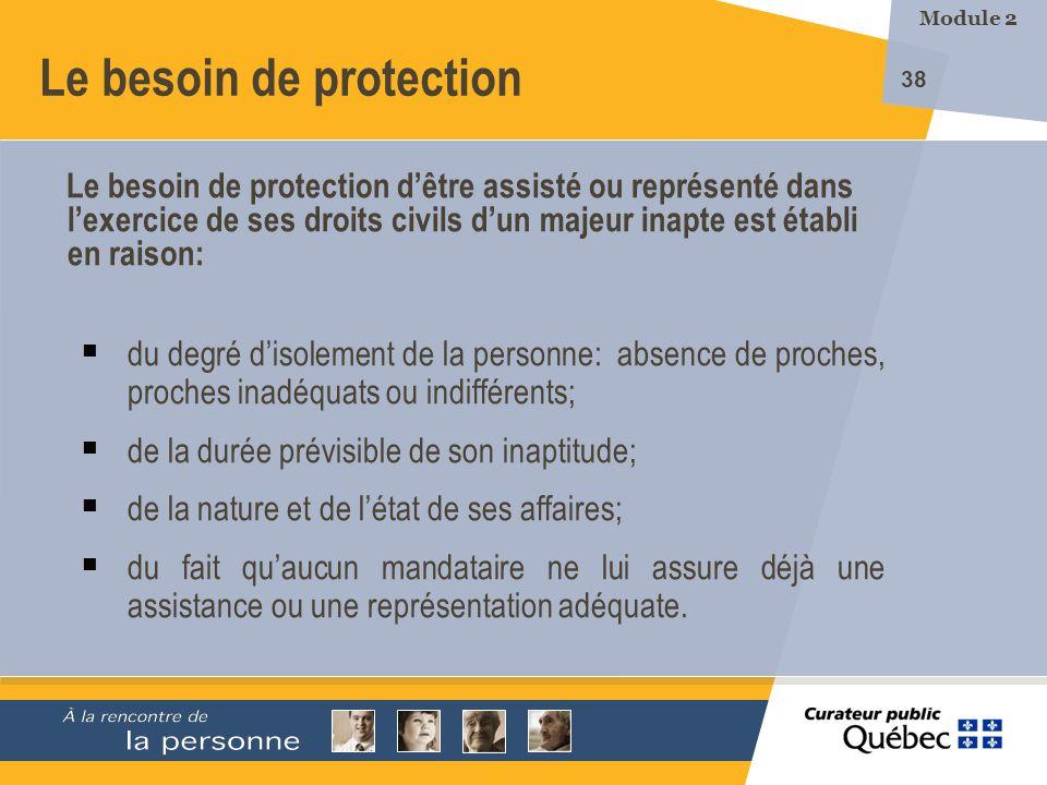Le besoin de protection