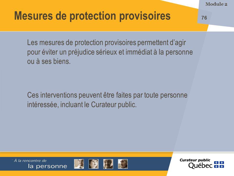 Mesures de protection provisoires