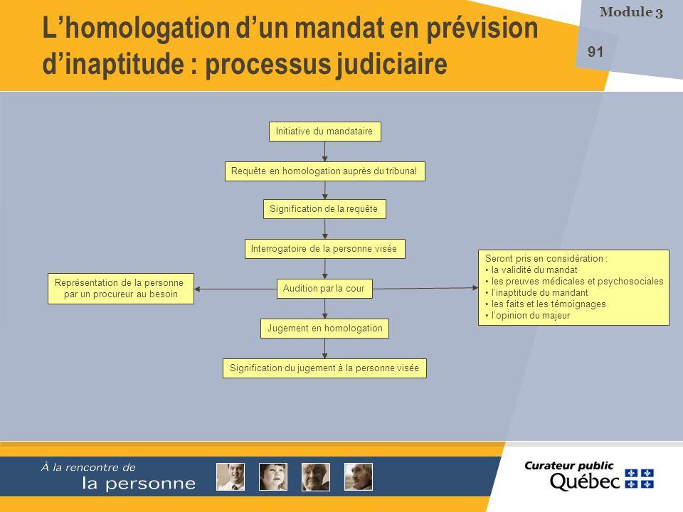 L'homologation d'un mandat en prévision d'inaptitude : processus judiciaire
