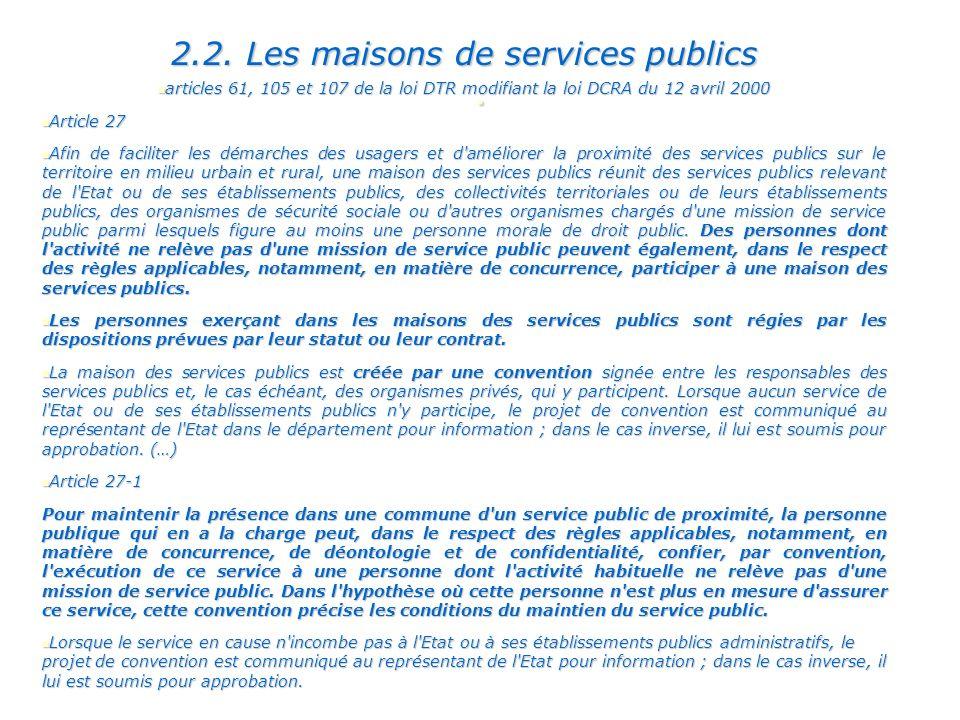 2.2. Les maisons de services publics