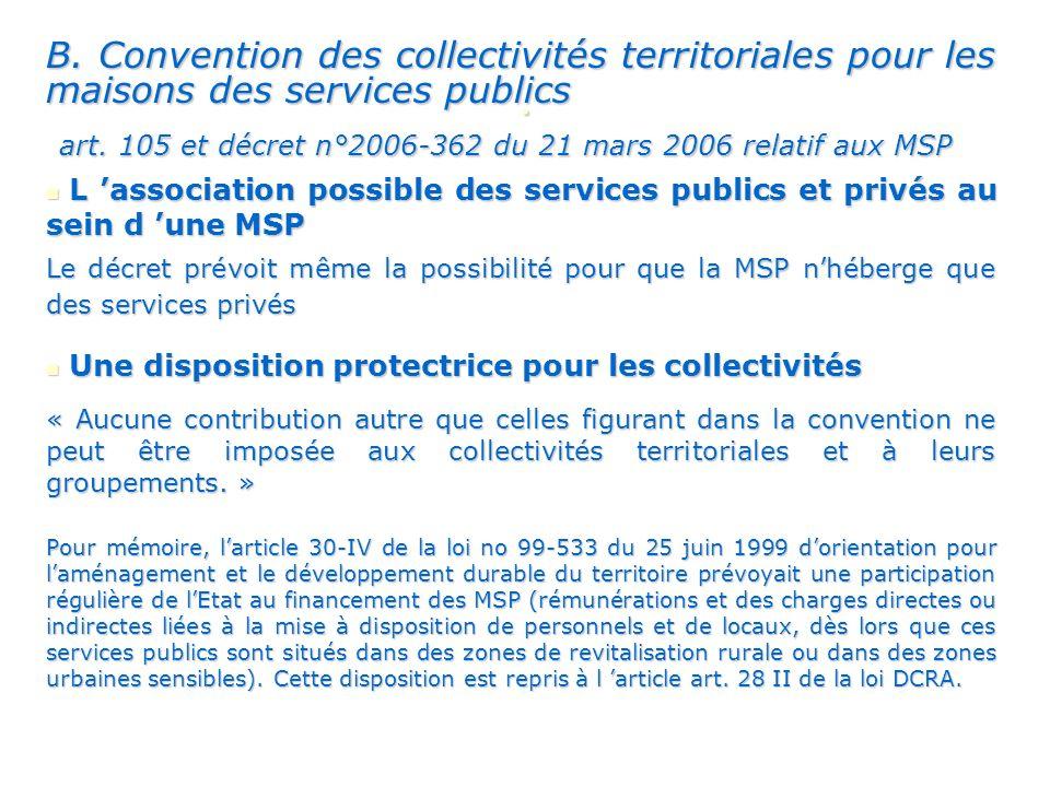 B. Convention des collectivités territoriales pour les maisons des services publics