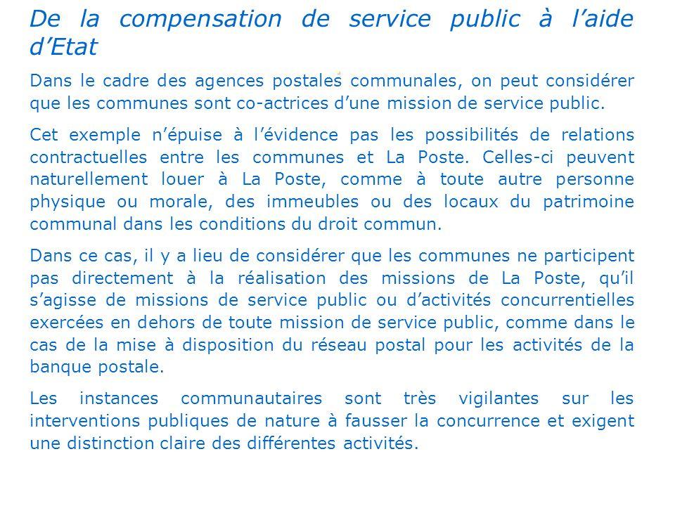 . De la compensation de service public à l'aide d'Etat