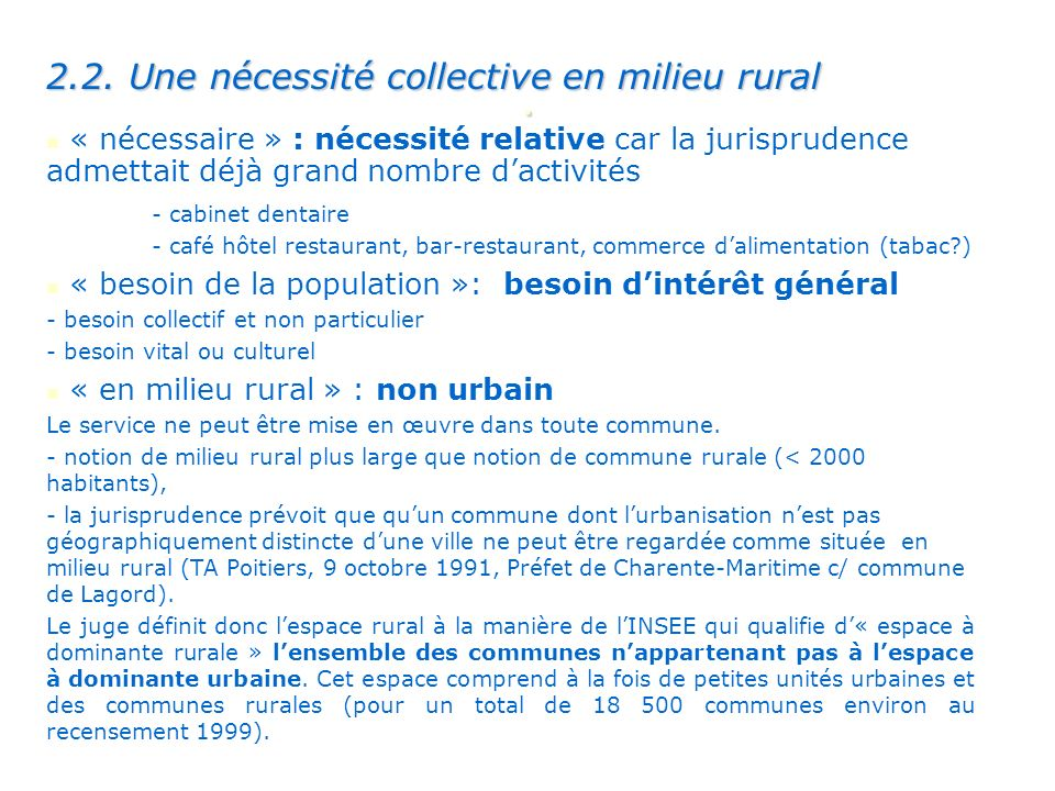 . 2.2. Une nécessité collective en milieu rural