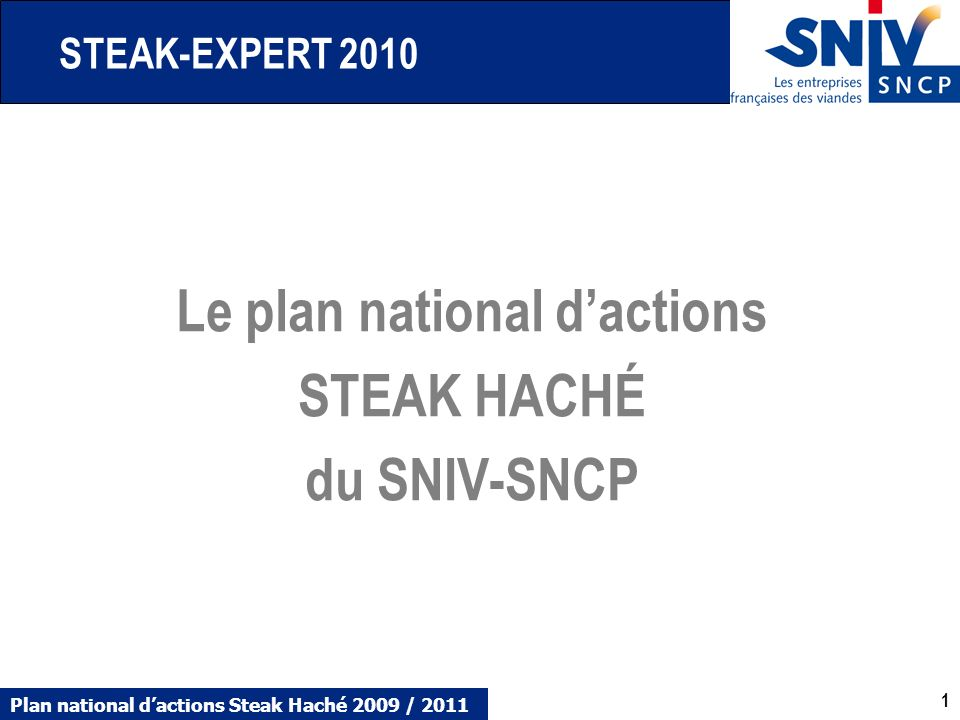 Le plan national d'actions