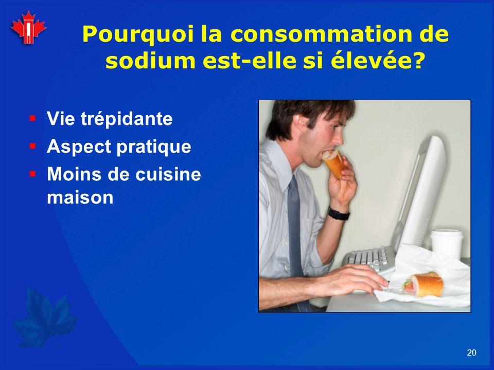 Pourquoi la consommation de sodium est-elle si élevée