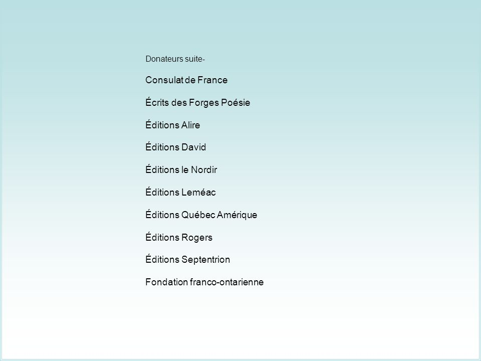 Écrits des Forges Poésie Éditions Alire Éditions David
