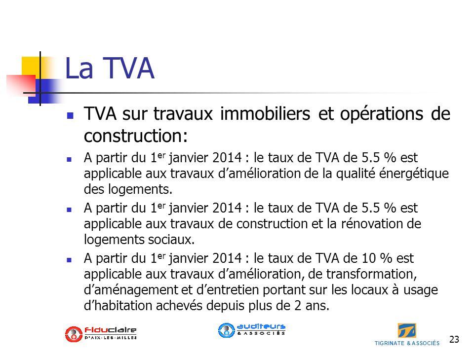 La TVA TVA sur travaux immobiliers et opérations de construction:
