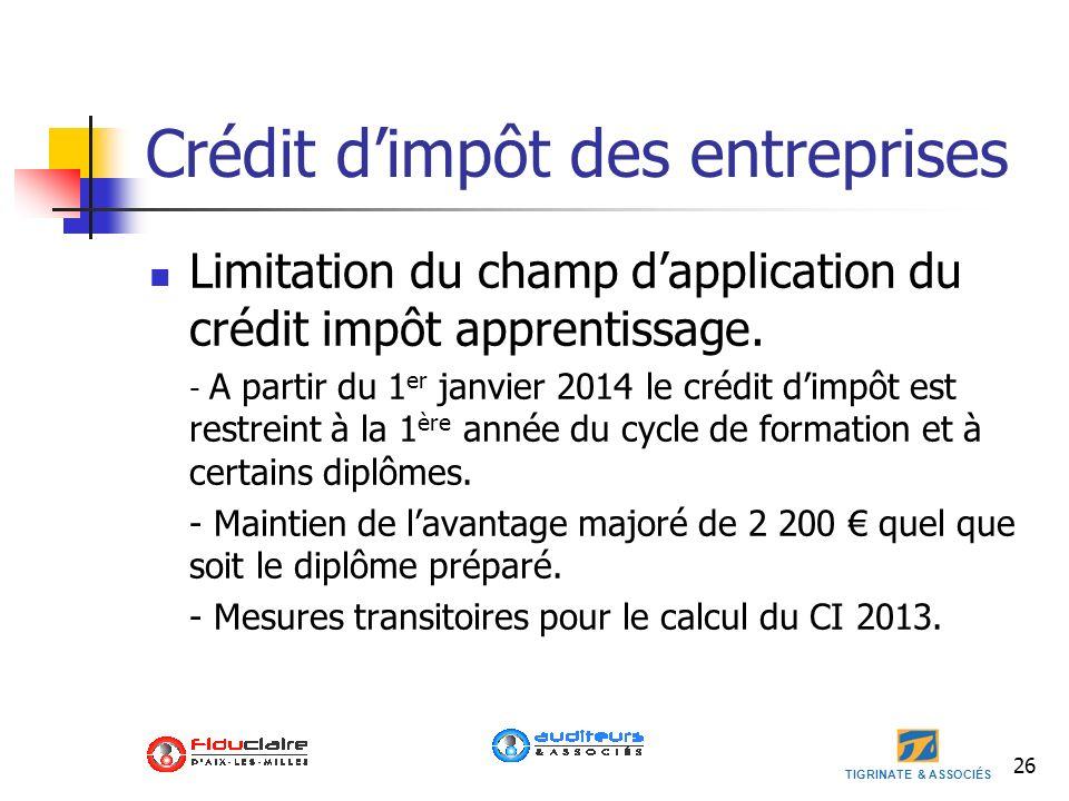 Crédit d'impôt des entreprises