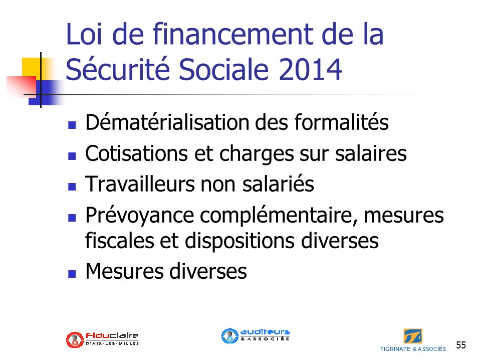 Loi de financement de la Sécurité Sociale 2014
