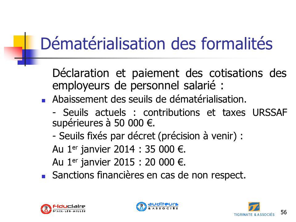 Dématérialisation des formalités
