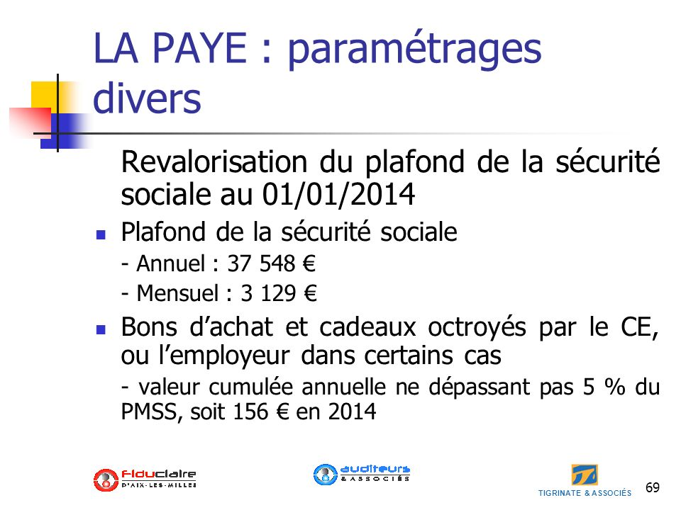 Loi de finances 2014 loi de finances rectificative 2013 - Plafond annuel de la securite sociale 2014 ...