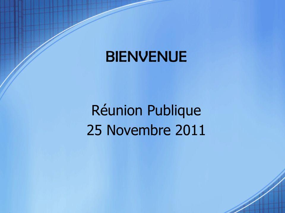 BIENVENUE Réunion Publique 25 Novembre 2011 Ensemble pour Boulieu