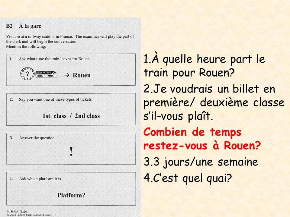 À quelle heure part le train pour Rouen