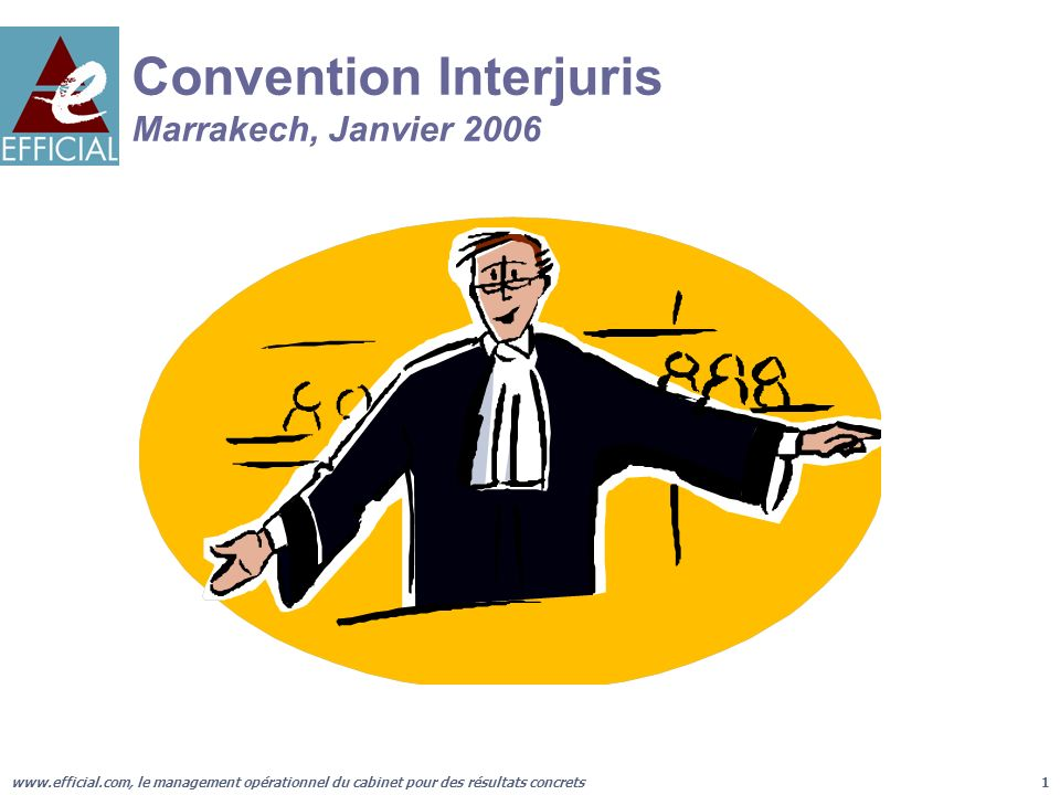 Convention Interjuris Marrakech, Janvier 2006