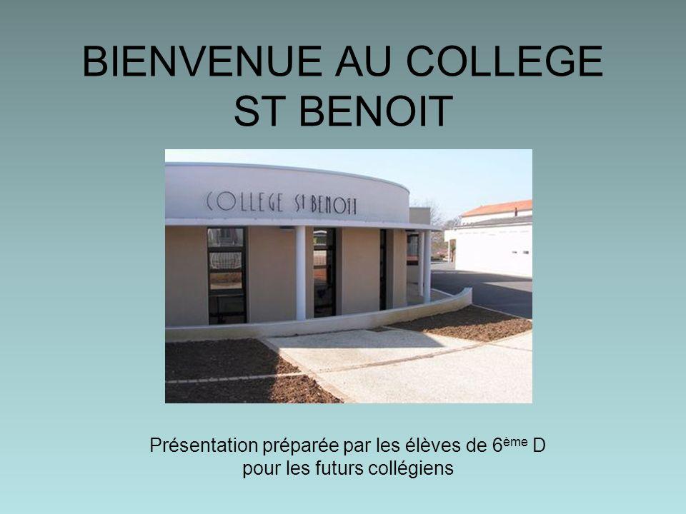 BIENVENUE AU COLLEGE ST BENOIT