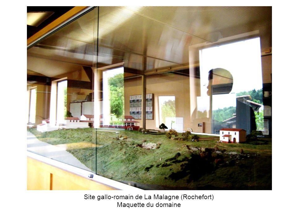 Site gallo-romain de La Malagne (Rochefort) Maquette du domaine