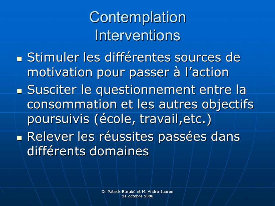 Contemplation Interventions