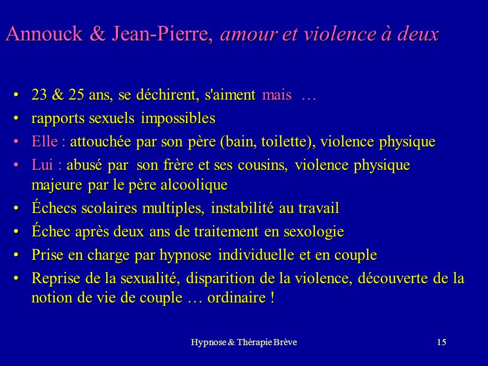 Annouck & Jean-Pierre, amour et violence à deux