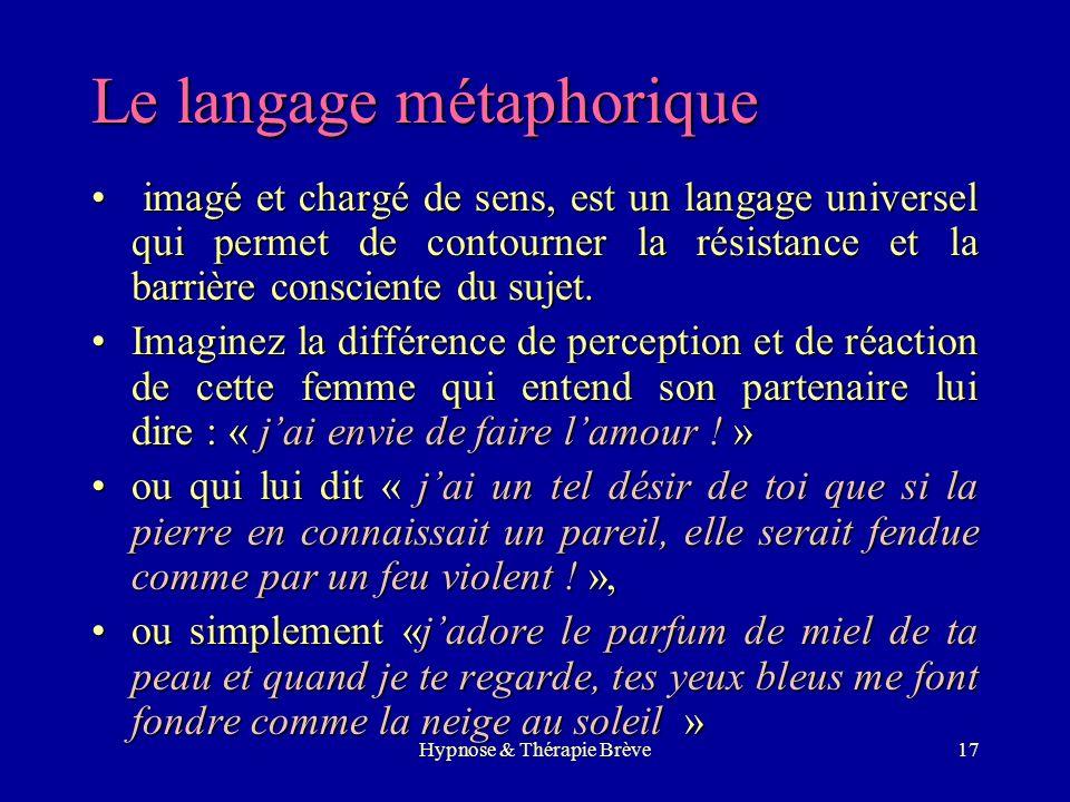 Le langage métaphorique