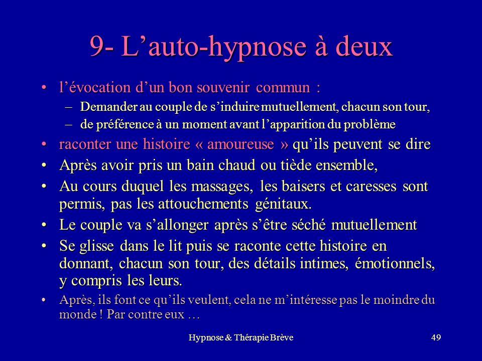 9- L'auto-hypnose à deux