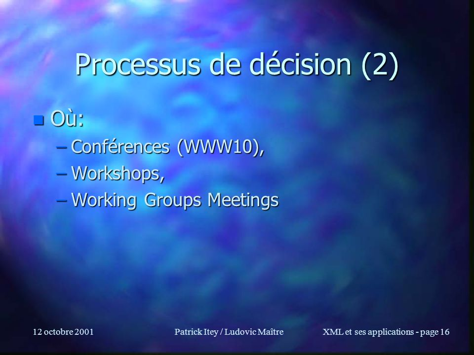 Processus de décision (2)