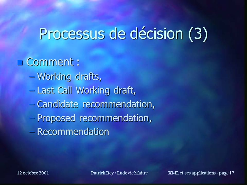 Processus de décision (3)