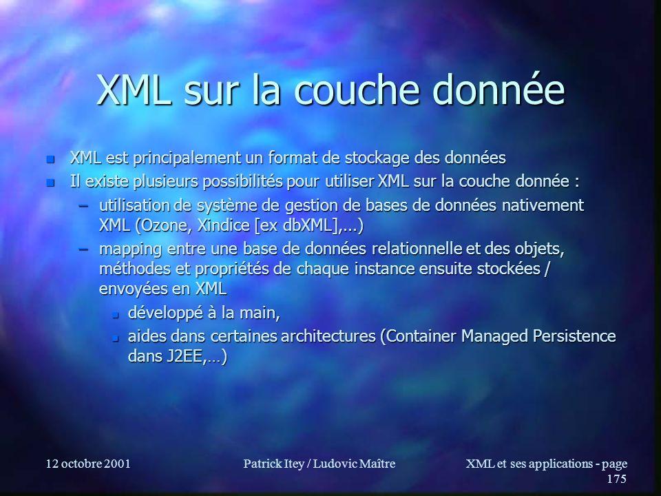 XML sur la couche donnée