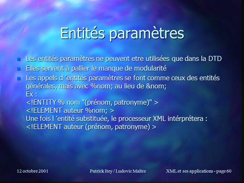 Patrick Itey / Ludovic Maître