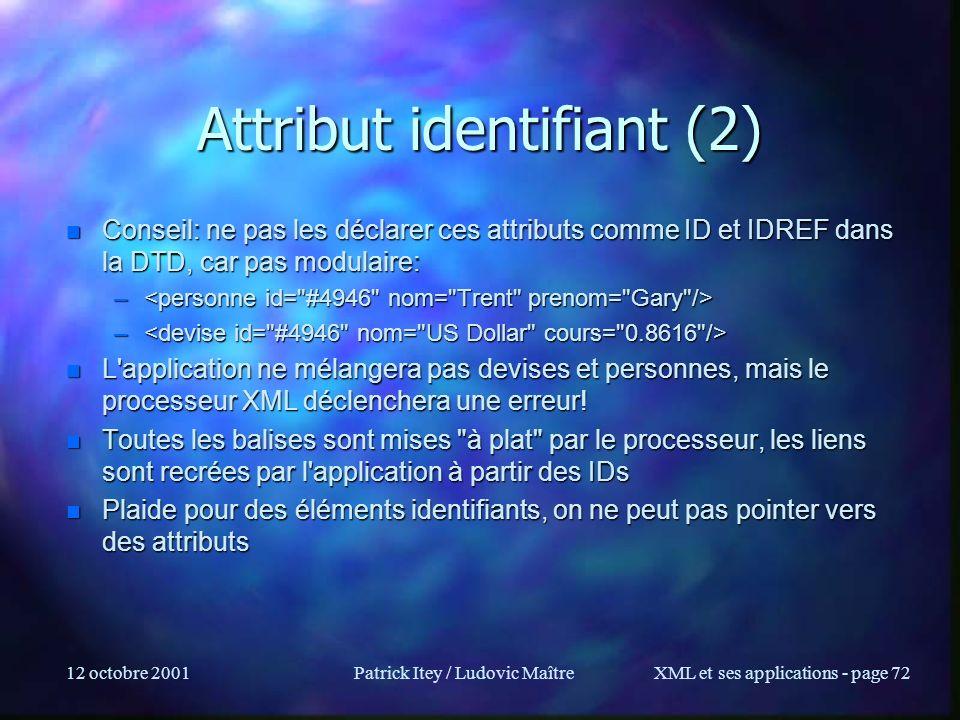 Attribut identifiant (2)