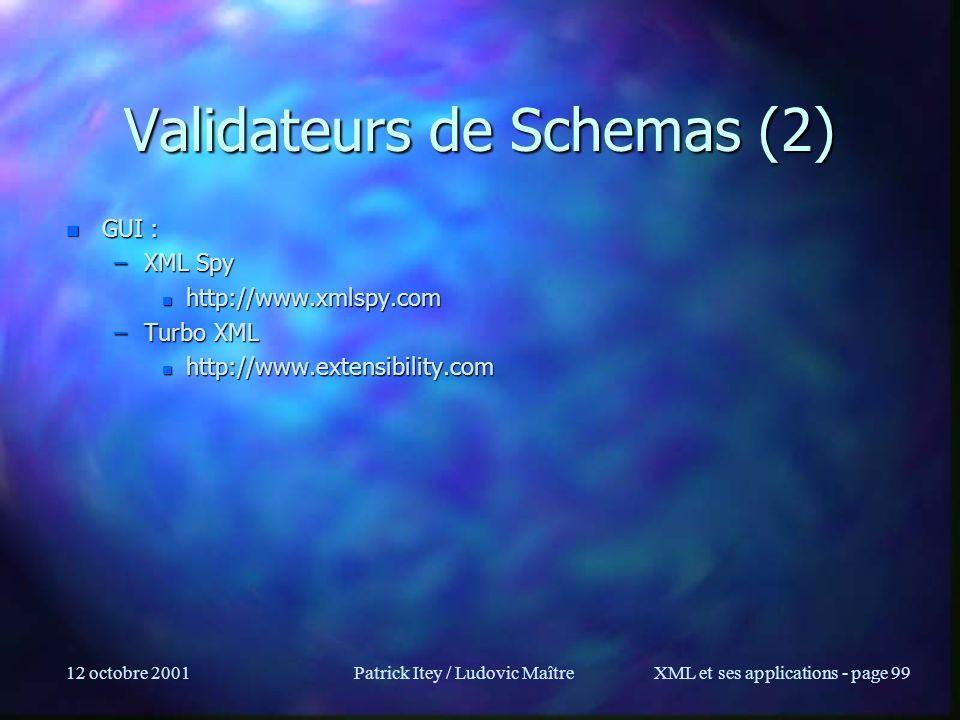 Validateurs de Schemas (2)