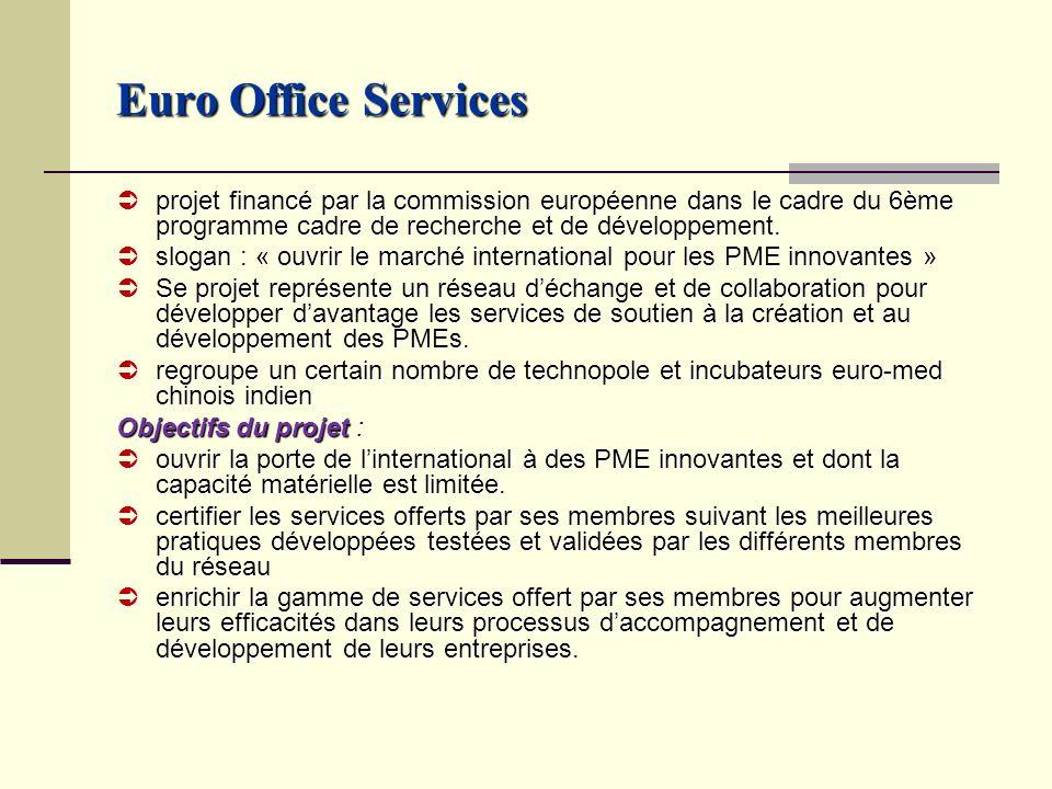 Euro Office Services projet financé par la commission européenne dans le cadre du 6ème programme cadre de recherche et de développement.
