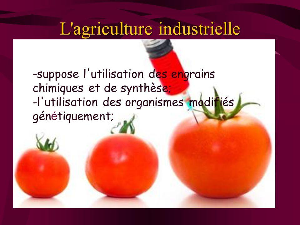 L agriculture industrielle