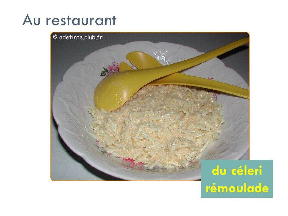 Au restaurant du céleri rémoulade