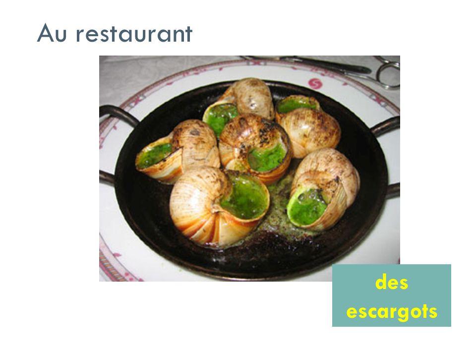 Au restaurant des escargots