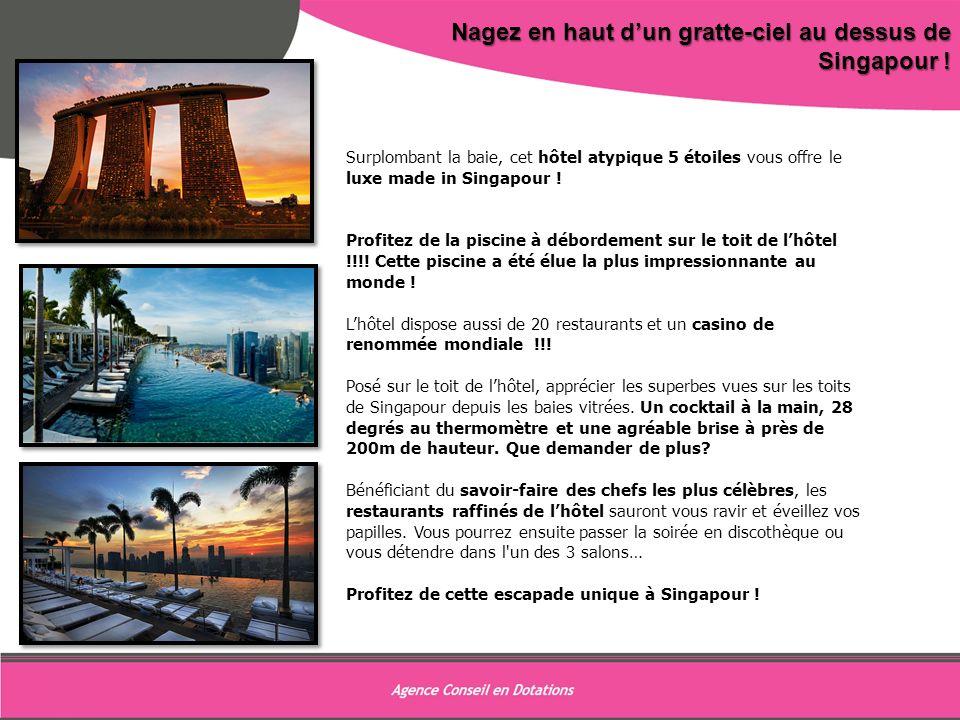 9 Nagez en haut d'un gratte-ciel au dessus de Singapour !