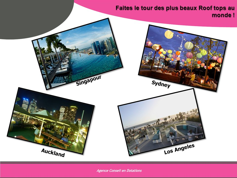 9 Faites le tour des plus beaux Roof tops au monde ! Singapour Sydney
