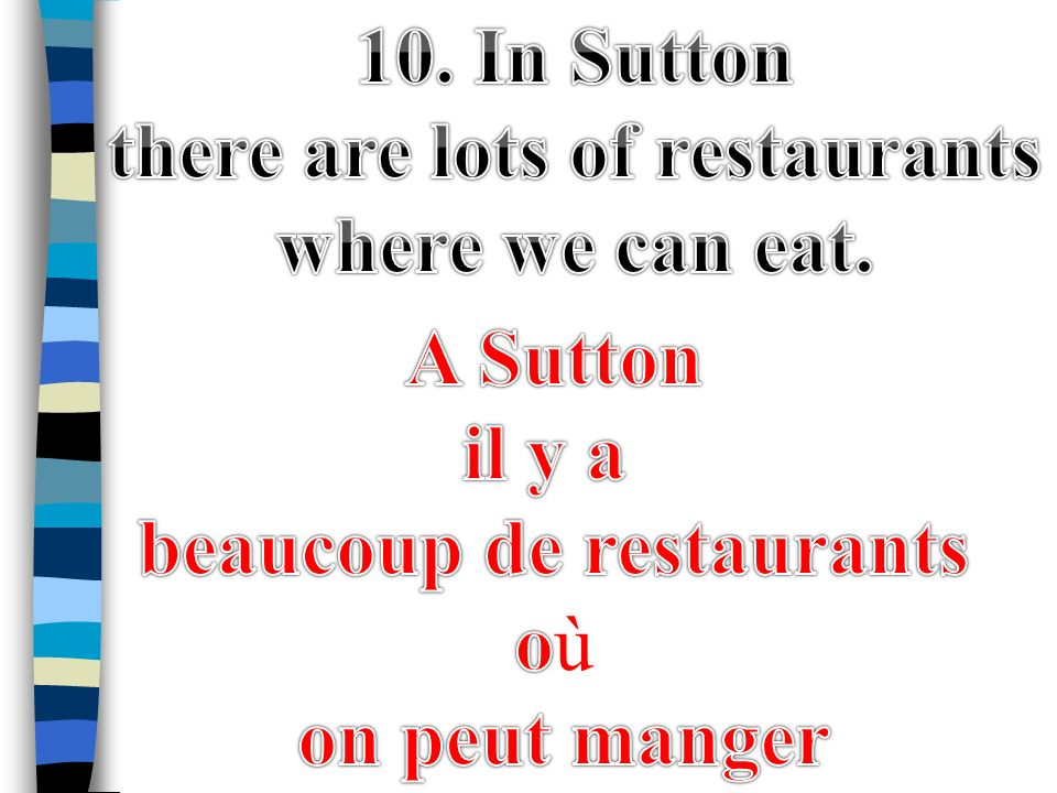 there are lots of restaurants beaucoup de restaurants