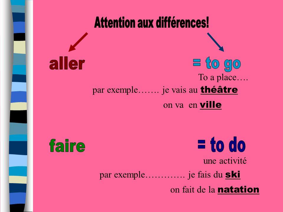Attention aux différences!