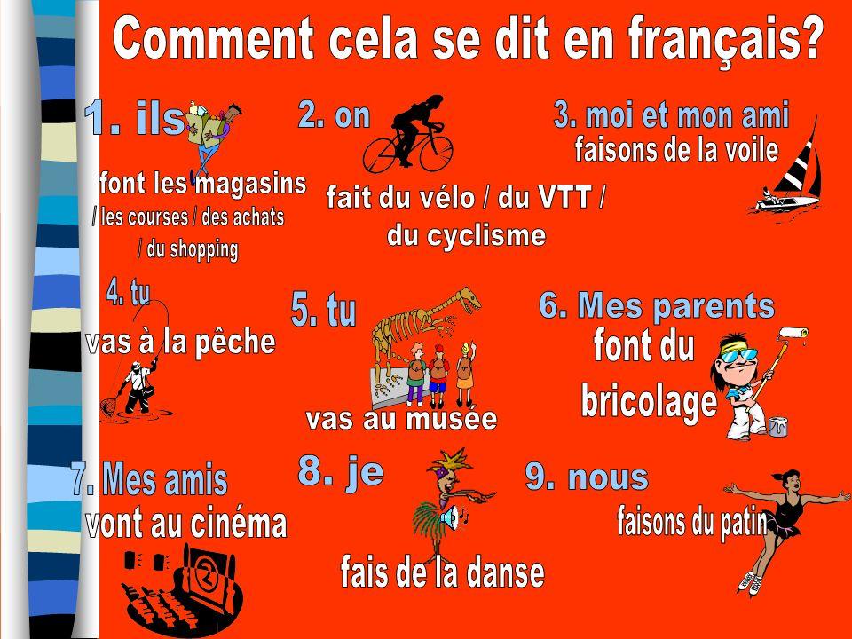 Comment cela se dit en français