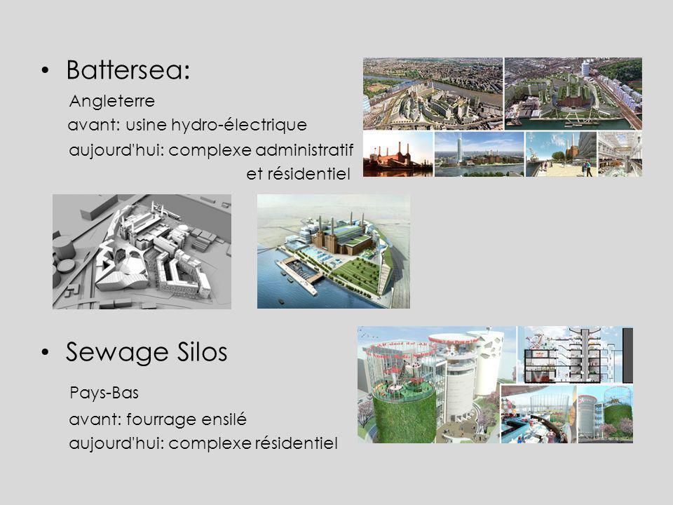Battersea: Sewage Silos Pays-Bas Angleterre