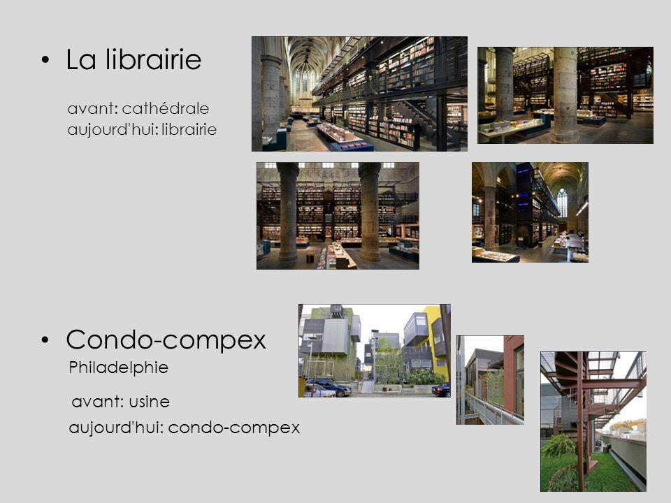 La librairie avant: usine Condo-compex Philadelphie